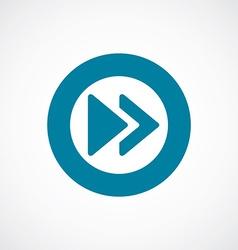 play icon bold blue circle border vector image