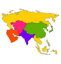 Political map of asia vector