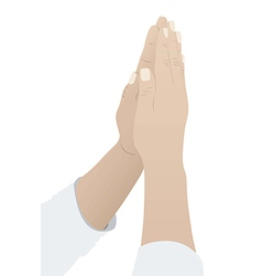 religious person prayer to god vector image