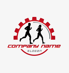 Running club design vector