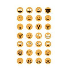 Set of Emoticon vector image