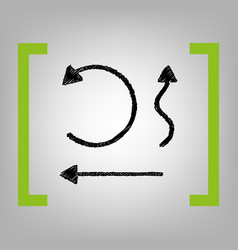 simple set to interface arrows black vector image