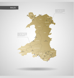 Stylized wales map vector