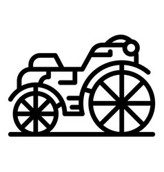 Summer brougham icon outline style vector
