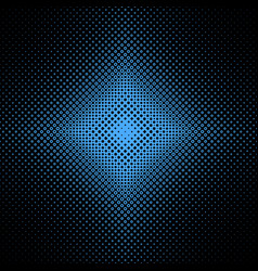 Symmetrical abstract halftone circle pattern vector