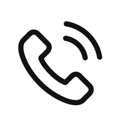 telephone call icon isolated on white background vector image