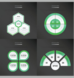 Template design 4 item neon green color vector
