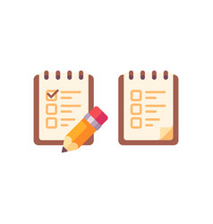 to do list with a pencil flat icon vector image
