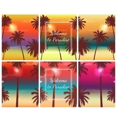 Travel brochure with exotic landscape vector