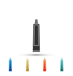 tube of toothpaste icon on white background vector image