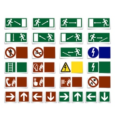 Warning symbols vector image