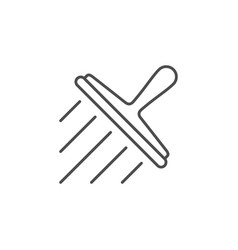 window cleaning line outline icon vector image