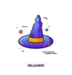 Witch hat icon halloween sticker vector