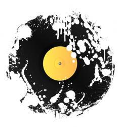 grunge vinyl disc vector image vector image
