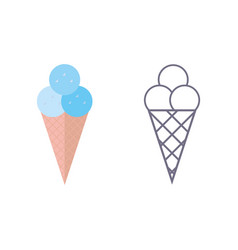 ice cream icon on isolated background vector image vector image