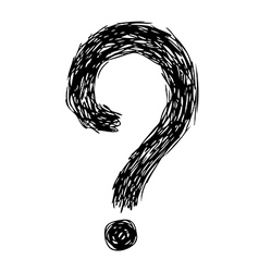 question mark 02 vector image vector image