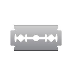 Razor blade isolated on white background vector image