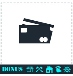 Credit Cards Payment icon flat vector image vector image