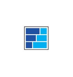 f block logo design vector image