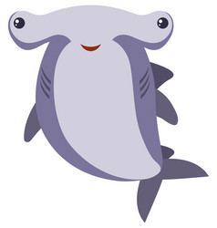 hammerhead shark on white background vector image