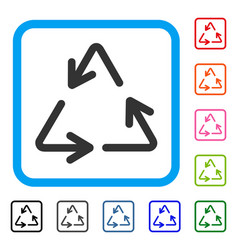 recycle framed icon vector image