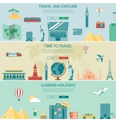 Travel and Tourism Headers Banners Concept vector image vector image