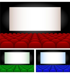 Collection auditoriums vector image vector image