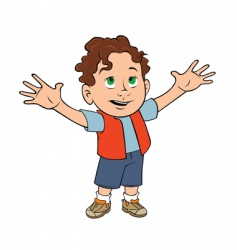 cute toddler boy vector image vector image