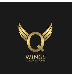Golden Q letter logo vector image vector image
