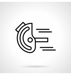 Goniometer black line icon vector image vector image
