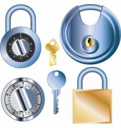 pad locks vector image