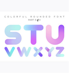 3d liquid paint letters colorful neon rounded vector image vector image
