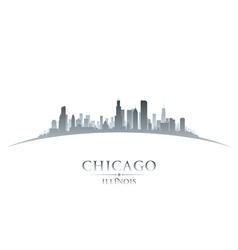 Chicago illinois city skyline silhouette vector