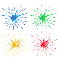 Different color splashes in four colors vector