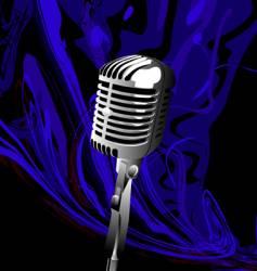 music mic vector image