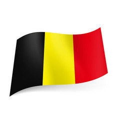 national flag of belgium black yellow and red vector image vector image