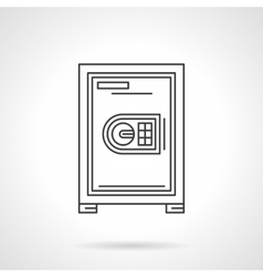Safe for office flat line icon vector image vector image
