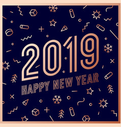 2019 happy new year greeting card happy new year vector
