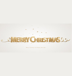 3d merry christmas vector image