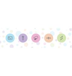 5 bolt icons vector