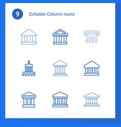 9 column icons vector
