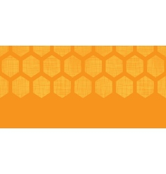Abstract honey yellow honeycomb fabric textured vector image