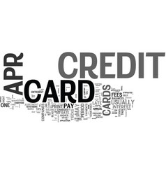 Apr credit cards ok what s the catch text word vector