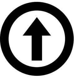 arrow icon upload arrow icon arrow up icon up vector image