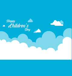 Background cloud design for childrens day vector