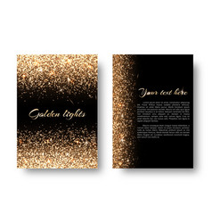 bling background with glowing lights vector image