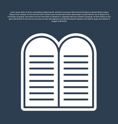 Blue line the commandments icon isolated on vector