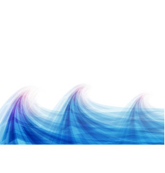 blue wave abstract vector image