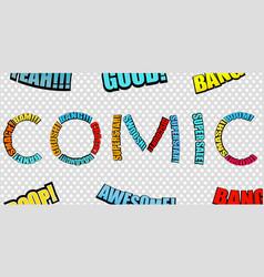 Bright comic inscription vector