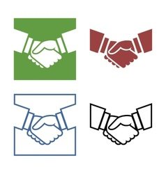 Business handshake set vector image